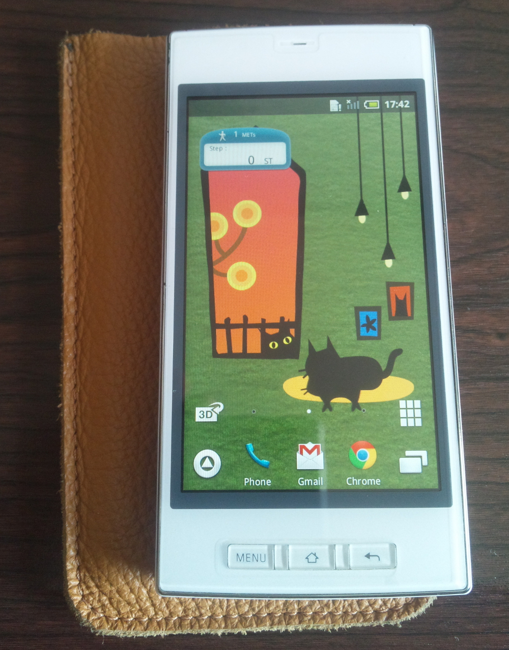 Sharp SoftBank 005SH - SIM unlocked, full root, 16 GB microSD, leather case