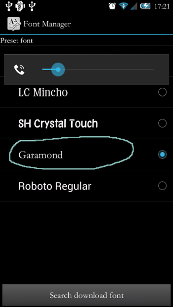 Adding custom fonts on your Sharp Android